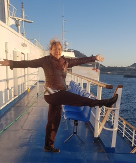 Standing pose on a ferry